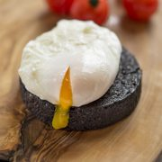 Black Pudding with Poached Eggs