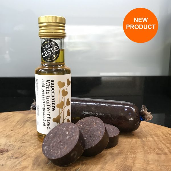 Black Pudding with truffle oil