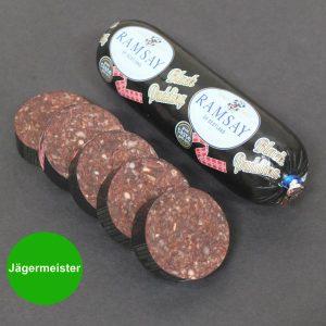Black Pudding made with Jägermeister